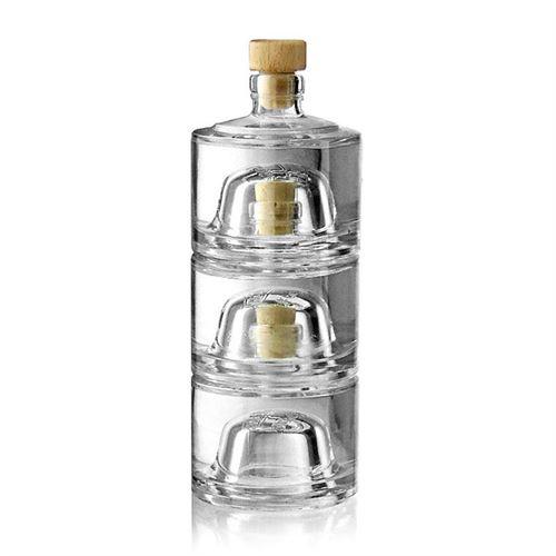 """200ml Set di Bottiglie impilabili """"Zamba"""""""