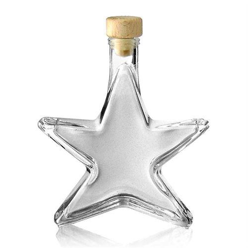"200ml botella de vidrio transparente ""Estrella"""