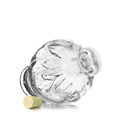 "200ml botella de vidrio transparente ""Fresa"""