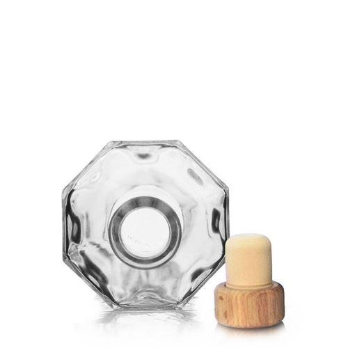 "200ml botella de vidrio transparente ""Diamante"""