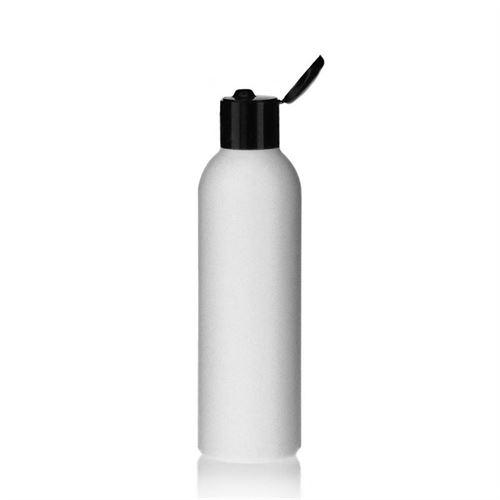 """200ml bottiglia HDPE """"Tuffy"""" nero con tappo Flip top"""