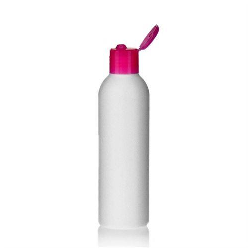 """200ml bottiglia HDPE """"Tuffy"""" rosa con tappo Flip top"""