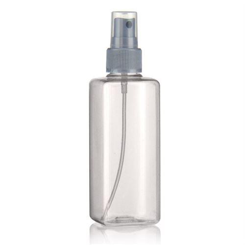 """200ml bottiglia PET """"Carlo"""" colore argento con erogatore spray"""