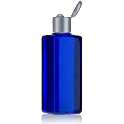 """200ml bottiglia PET """"Carlo"""" argento con tappo Flip top"""