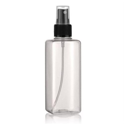 """200ml bottiglia PET """"Carlo"""" nero con erogatore spray"""