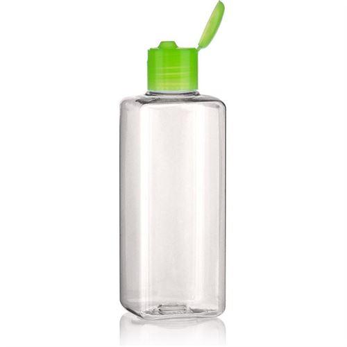 """200ml bottiglia PET """"Carlo"""" verde con tappo Flip top"""