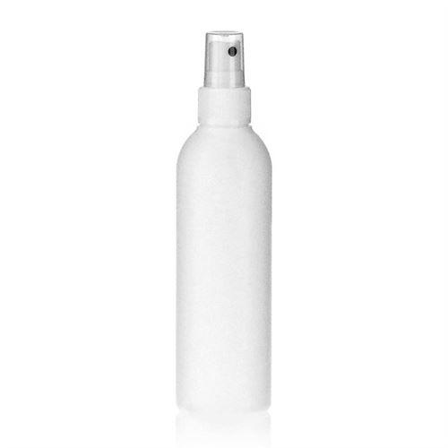 """200ml bouteille HDPE """"Tuffy"""" blanc avec tête de pulvérisation"""
