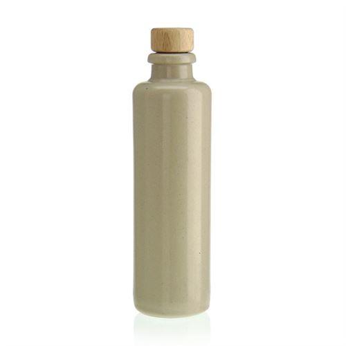 "200ml bouteille en grès ""blanc-mat"" avec liège"