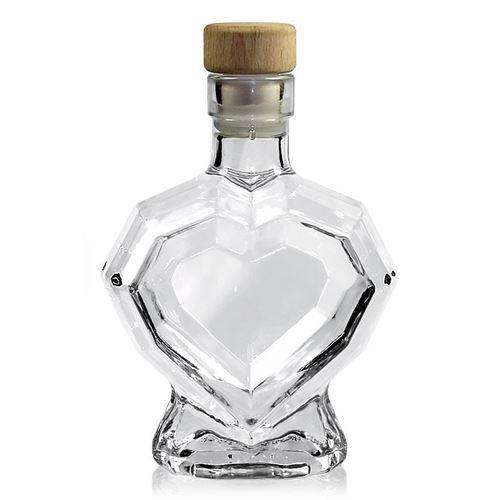 """200ml bouteille en verre clair """"cœur de diamant"""""""