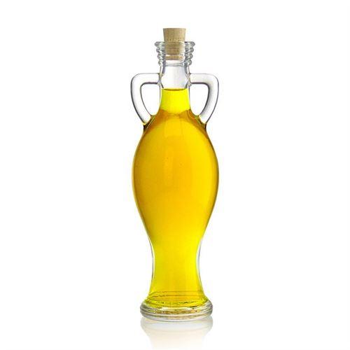 """200ml bouteille en verre clair """"amphore"""""""