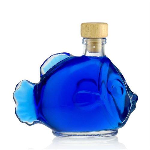 "200ml bouteille verre clair ""Poisson"""