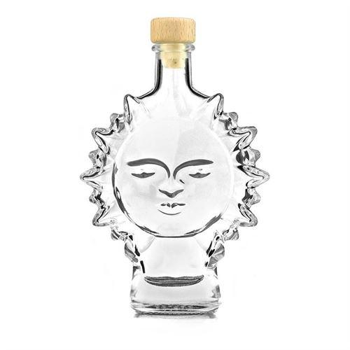 """200ml bouteille en verre clair """"soleil"""""""