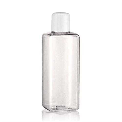 """200ml butelka PET """"Karl"""" biała z wkładką z otworem"""