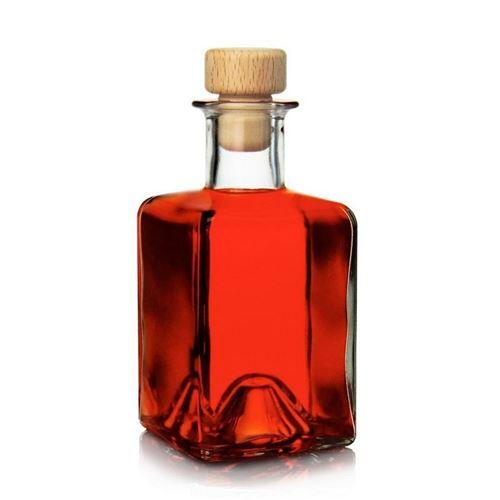 "200ml clear glass bottle ""Kubica"""