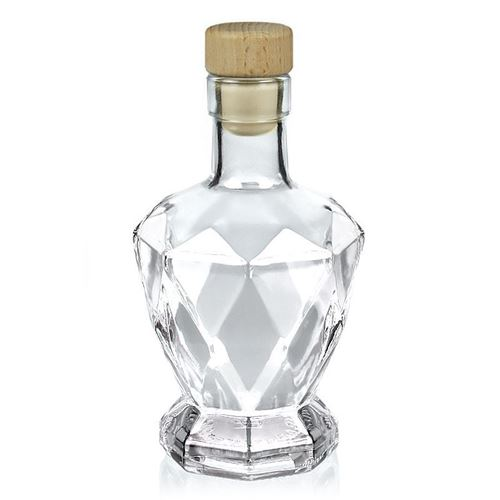 "200ml clear glass bottle ""Diamond"""