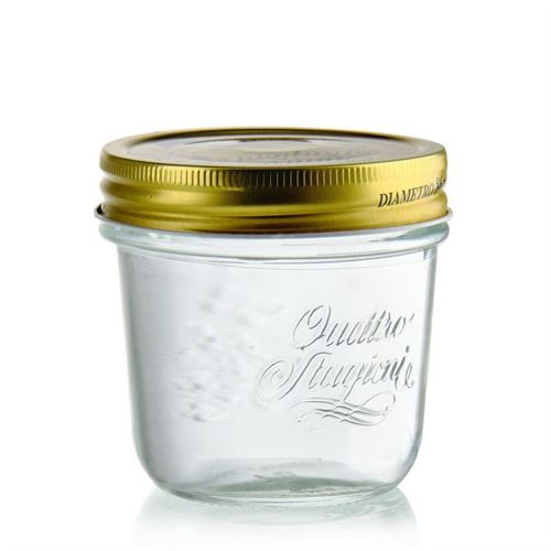 "200ml dekorativt glas ""Quattro Stagioni"""