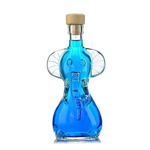 "200ml flaske i klart glas ""Elefant"""