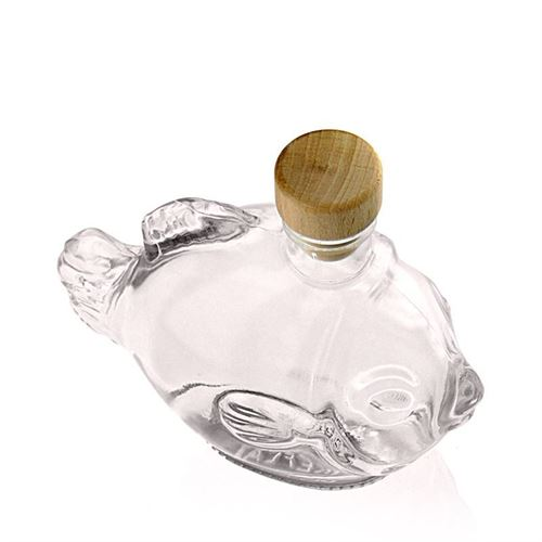 "200ml flaske i klart glas ""Fisk"""