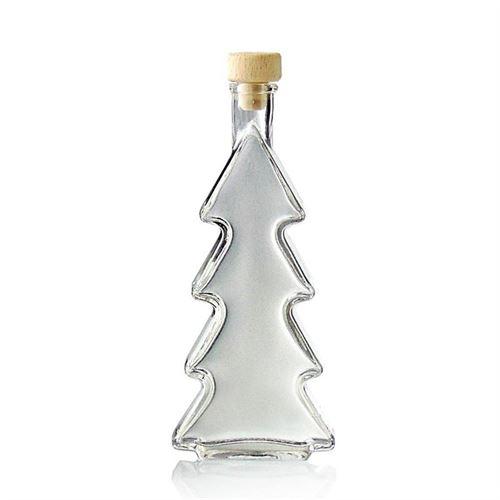 """200ml flaske i klart glas """"Grantræ"""""""