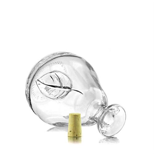 "200ml flaske i klart glas ""pære"""