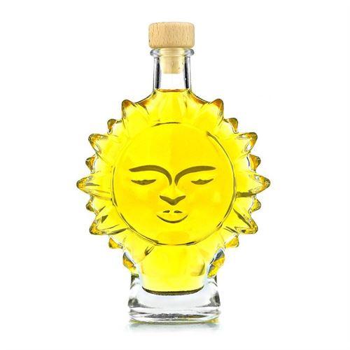"200ml flaske i klart glas ""sol"""
