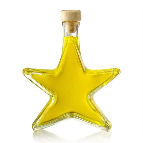 """200ml flaske i klart glas """"stjerne"""""""