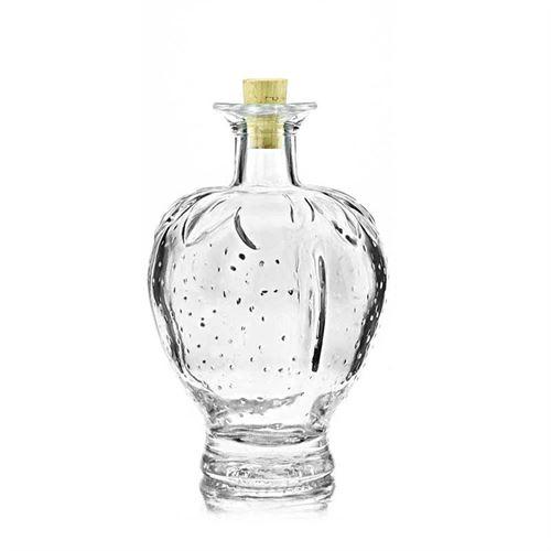 """200ml glazen fles clear """"aardbei"""""""