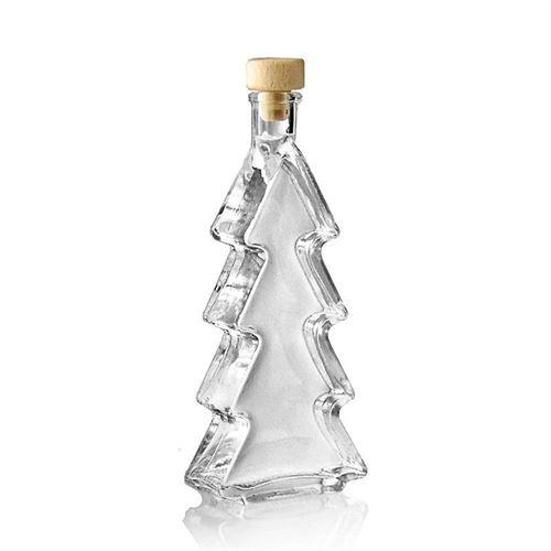 "200ml glazen fles clear ""Kerstboom"""