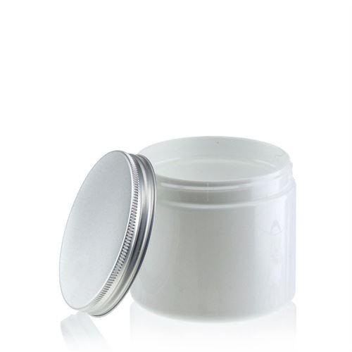 """200ml hvid PET-dåse """"Bella Mia"""" aluminium"""
