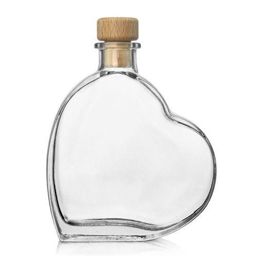 "200ml szklana butelka w formie serca ""Passion"""