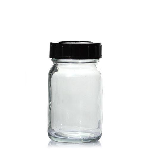 200ml vasetto in vetro trasparente a collo largo