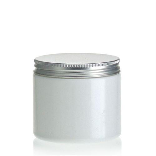 "200ml witte PET-pot ""Bella Mia"" aluminium schroefdeksel"