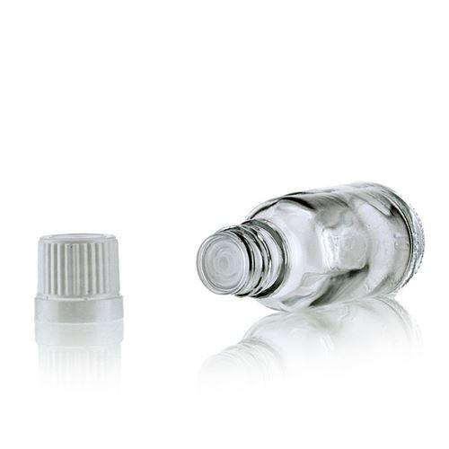 20ml gennemsigtig medicinflaske med dråbetæller