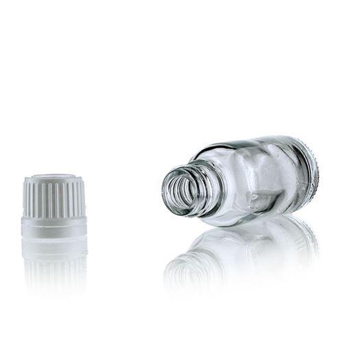 20ml gennemsigtig medicinflaske med originality-lock