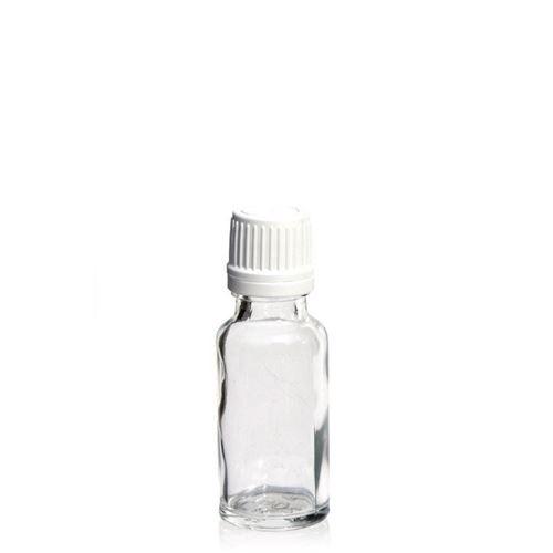 20ml flacon de médecine clair avec fermeture d'originalité
