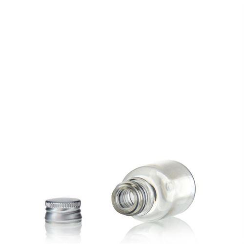 """20ml PET-flaske """"Easy Living"""", med aluminiumskruelåg, klar"""