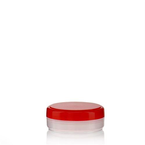 """20ml PP jar """"Liberty"""" natural/red"""