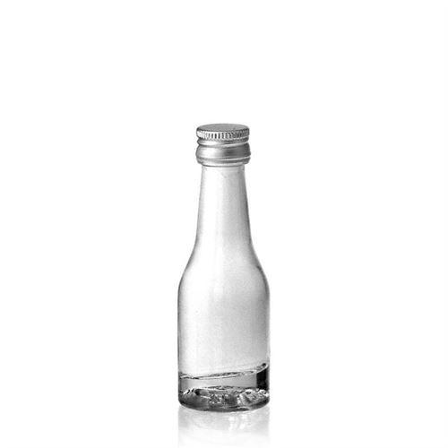 "20ml bouteille verre clair ""Shorty"""