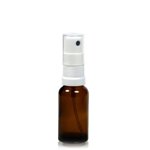 20ml brun medicinflaske, med sprayhoved