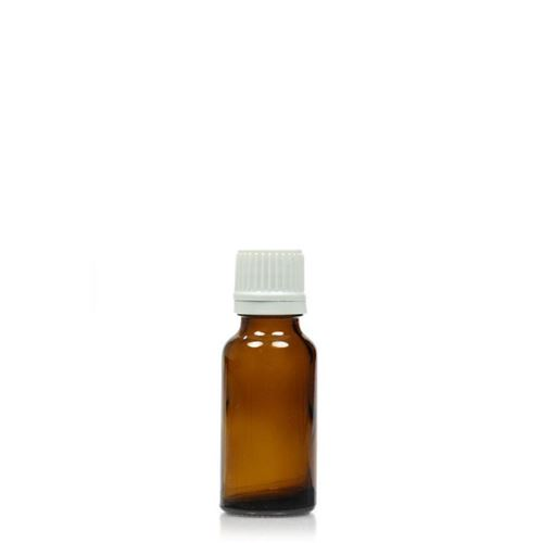 20ml bruin medicijn flesje met originaliteits sluiting