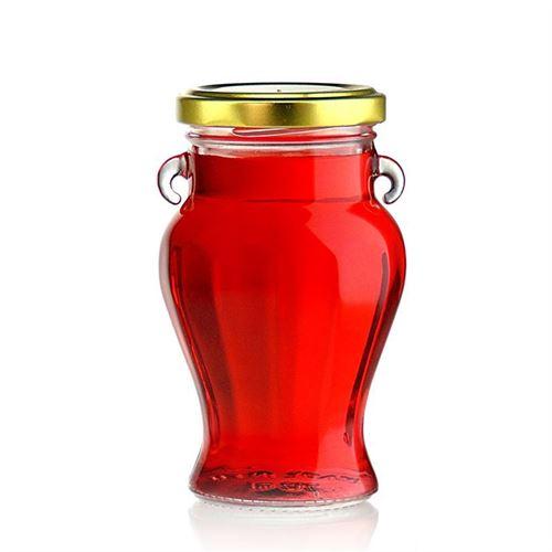 """212ml Pot in vetro designer """"Beauty"""" con tappo a vite Twist Off 58"""