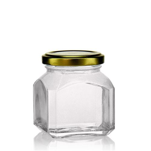 "212ml rectangular design jar ""Milan"""