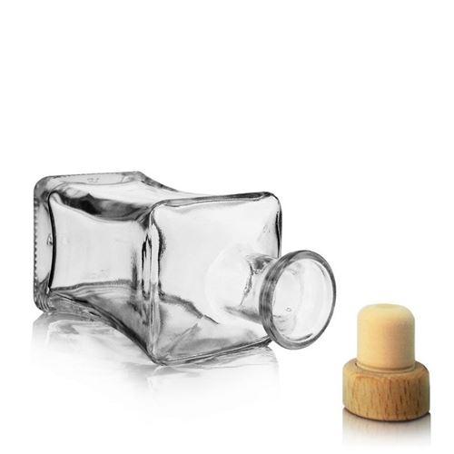 """250ml Bottiglia in vetro chiaro """"Lilli"""""""
