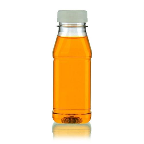 "250ml Botella PET con gollete ancho ""Milk and Juice Carree"" blanco"