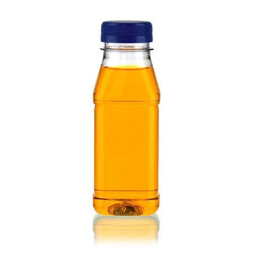 "250ml Bottiglia PET a collo largo ""Milk and Juice Carree"" blu"
