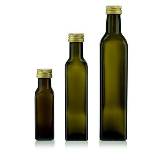 """250ml Bottiglia in vetro verde antico """"Marasca"""""""