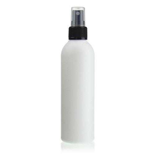 "250ml HDPE-flaske ""Tuffy"" sort med sprayhoved"