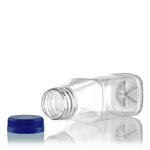 "250ml PET Weithalsflasche ""Milk and Juice Carree"" blau"