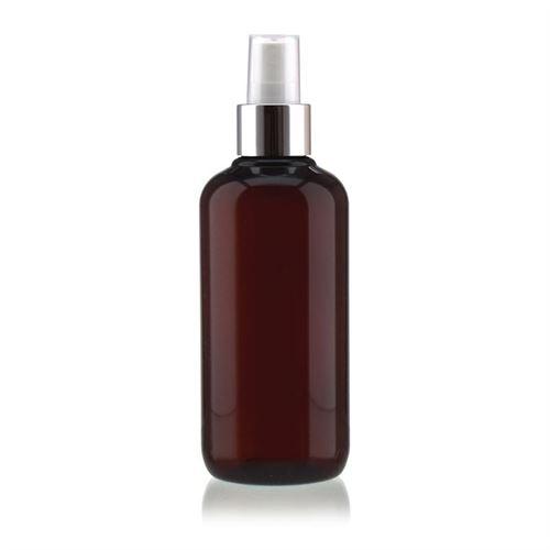 """250ml Bottiglia PET nel colore marrone """"Victor's Best"""" con erogatore spray"""