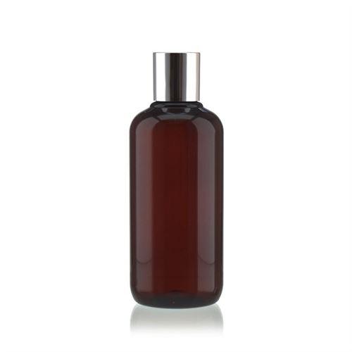 """250 ml bouteille en PET brun """"Victor's Best"""" avec DiscTop, argenté"""
